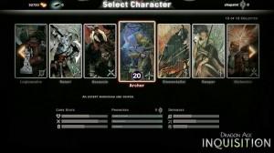 Auszug aus der Klassenwahl im Multiplayer