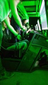 Blick auf einen der Racing-Seats
