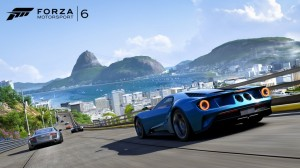 Wenn mich jemand der Grafik des Spiels fragt, zeige ich dieses Bild - ist übrigens die Strecke in Rio de Janeiro