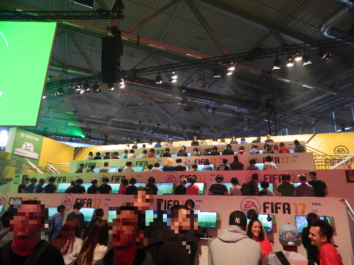 FIFA 17 Messestand
