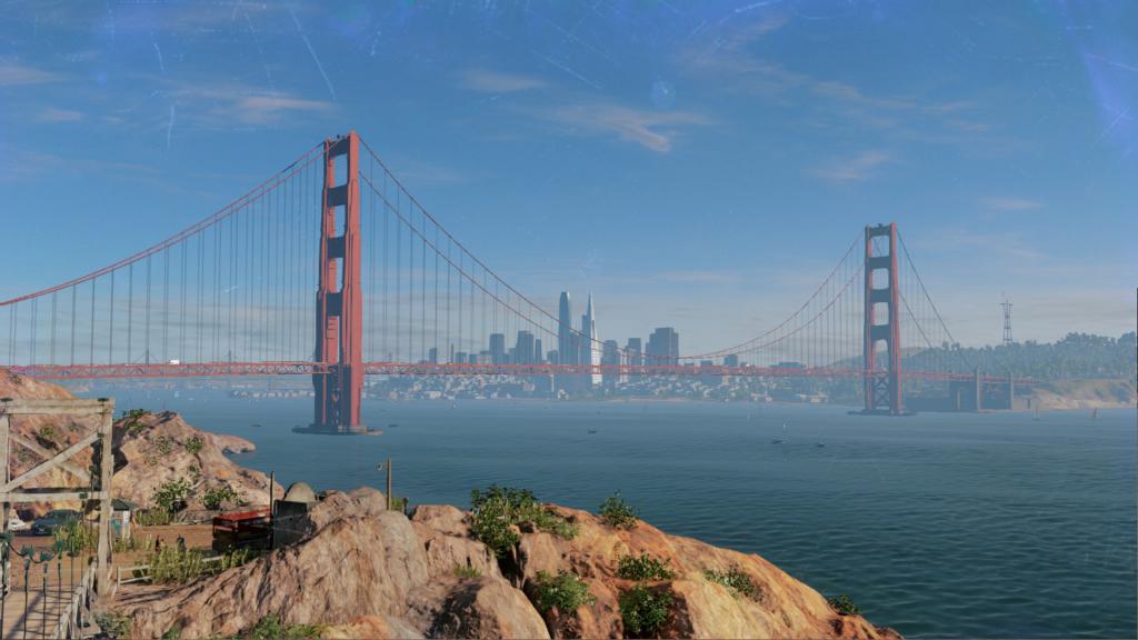 Blick auf die Golden-State-Bridge