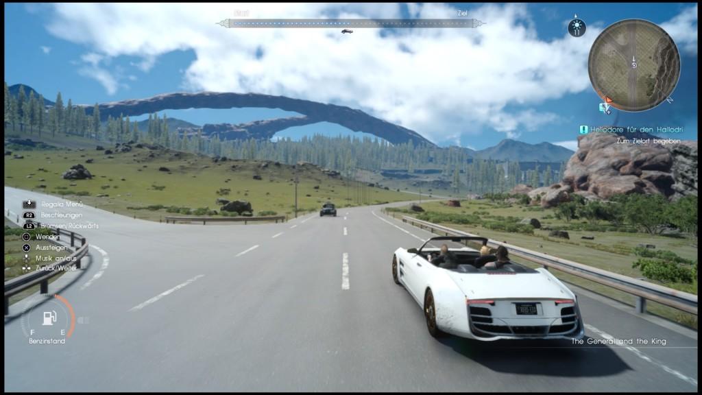 Fahrt im Regalia