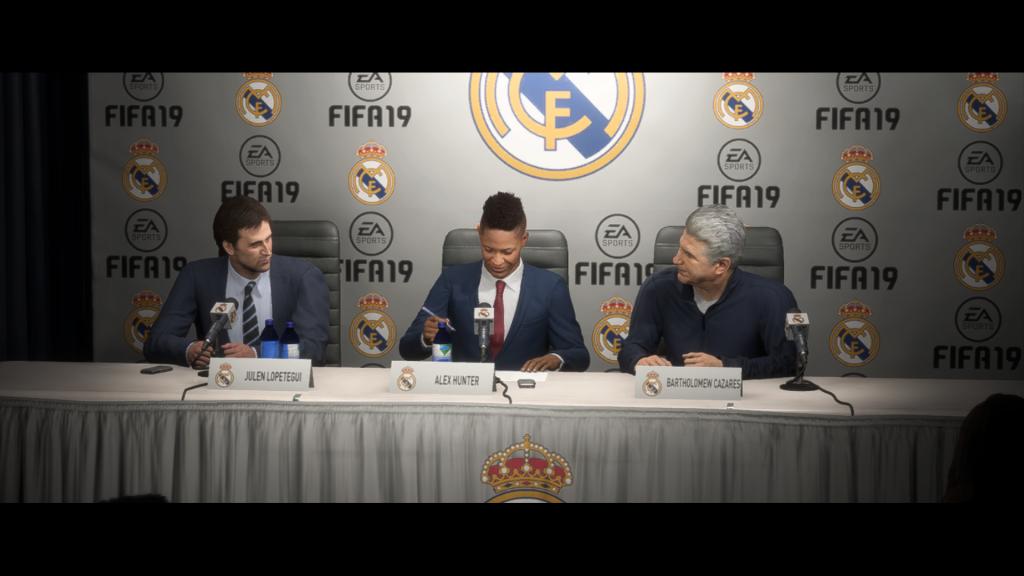 Screenshot: Vertragsunterzeichnung Real Madrid
